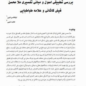 بررسی تطبیقی اصول و مبانی تفسیری ملا محسن فیض کاشانی و علامه طباطبایی